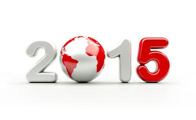 New year 2015 logo | 3d illustration