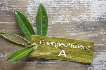 Energieeffizienz A - Plakette