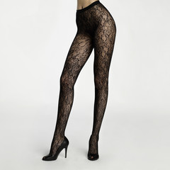 Slim female legs in pantyhose