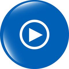 multimedia play icon button, design element