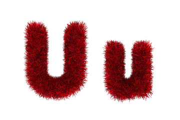 red grass letters, upper and lowercase