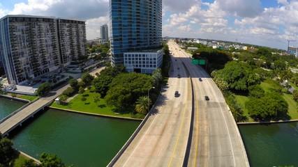 Aerial Julia Tuttle Causeway Miami