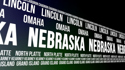 Nebraska State and Major Cities Scrolling Banner