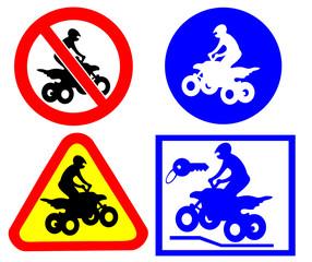 ATV traffic signs