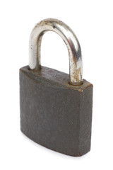 Old lock on the white background