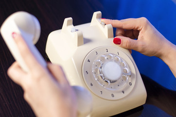 woman phone dialing