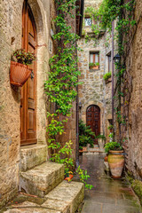Alley in old town Pitigliano Tuscany Italy © FotoDruk.pl