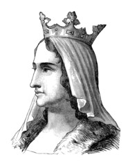 French Medieval Queen : Blanche de Castille - 13th century