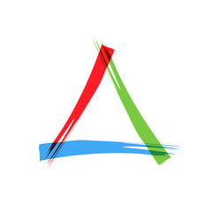 Abstract logo triangle scrawled
