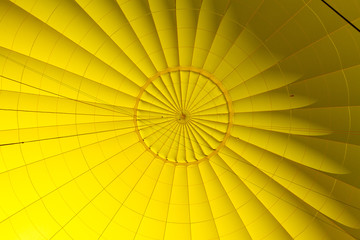 Yellow hot air balloon