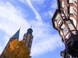 Goslar Marktkirche und Fachwerkhaus