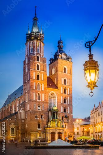 Krakau Rynek Glowny - Marienkirche © ted007