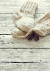Handmade knitting socks