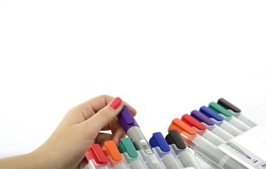 Bunte Stifte für Flipchart