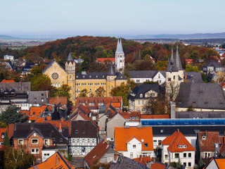 Blick auf Goslar und Ratsgymnasium
