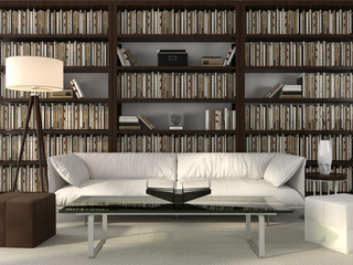 Stylish office and library