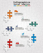 Infographics web design with puzzle. Vector