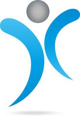 Mensch, Fitness, Gesundheit, Logo