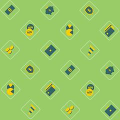 Finance - seamless pattern. Vector.