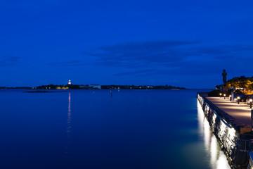 Helsinki harbour in the dusk