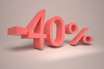 Процент 40