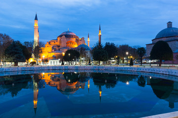 Hagia Sophia in Istanbul at Sunrise