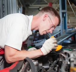 auto mechanic at work