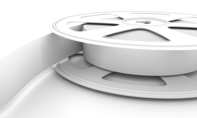 White reel film.