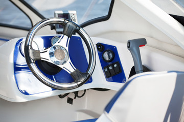 motorboat steering wheel