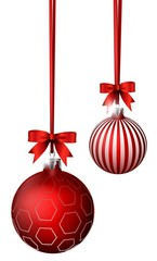 christmas balls with ribbon decoration for you design