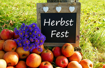 Herbst Fest - Kreidetafel
