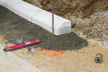 Tools for installing concrete curb stone 2