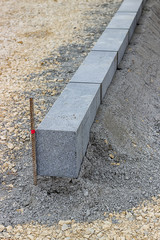 Large grey granite curb stone 2