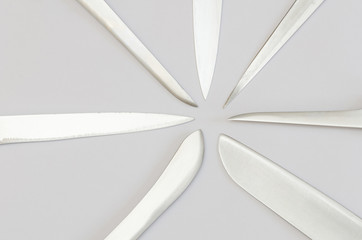 radially arranged kitchen knife blades