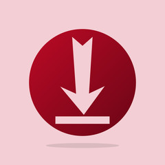 Download Button With Arrow With Red Background