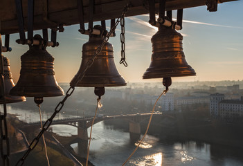 Bells on belltower.
