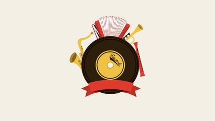 Music Instruments, Animation, HD 1080