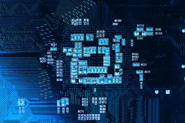 Modern electronic board close-up