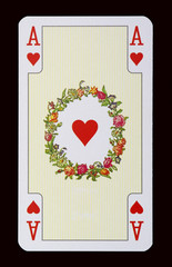 Spielkarten der Ladys - Herz Ass