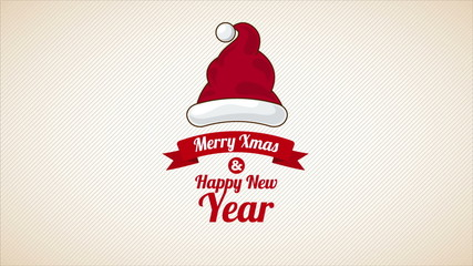 Merry Christmas and happy new year, Animation, HD 1080