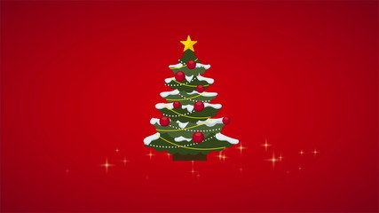 Christmas Tree Animation, HD 1080