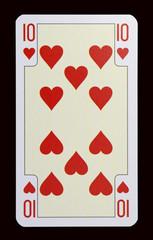 Spielkarten der Ladys - Herz Zehn