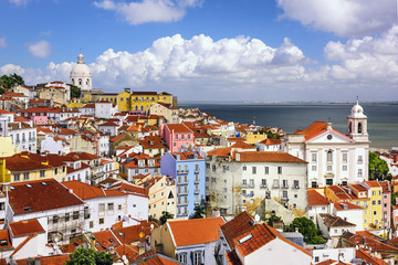 Lisbon, Portugal Skyline at Alfama