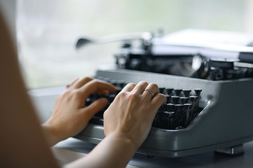 typewriter girl hands