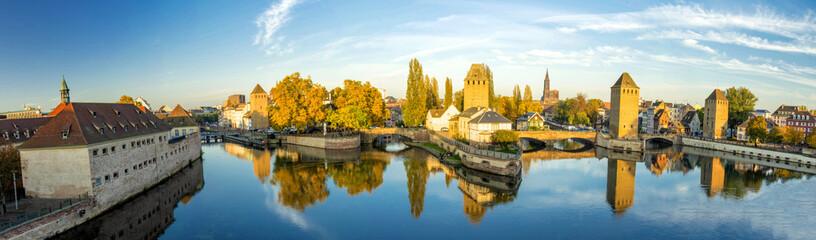 Ponts Couverts à Strasbourg au crépuscule
