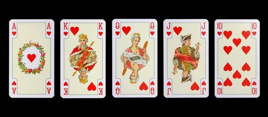 Spielkarten der Ladys -HERZ