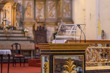 Church Stand with microphone