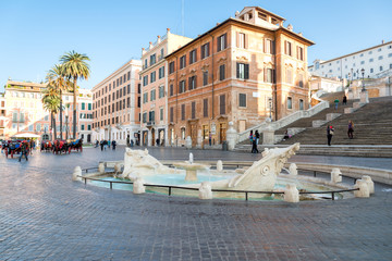 Fontana della Barcaccia ,Piazza di Spagna, Rome, Italy