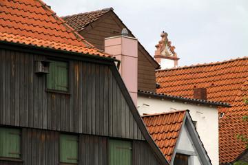 Dächer und Hausgiebel in Lemgo