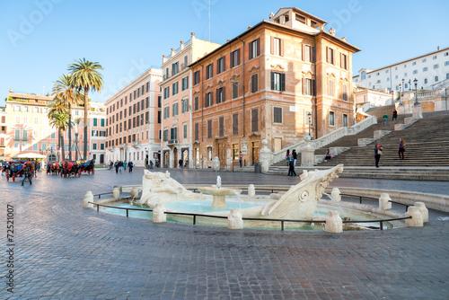 Fontana della Barcaccia ,Piazza di Spagna, Rome, Italy - 72521007